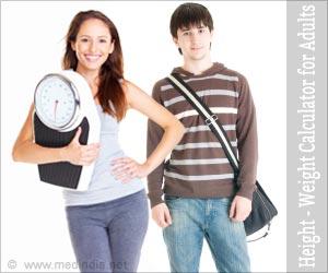 शरीरिक बनावट के अनुसार ऊंचाई और वजन - वयस्क