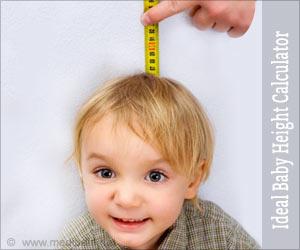 शिशु की आदर्श ऊंचाई नापने का कैलक्युलेटर